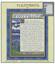 Footprints JE190 cross stitch chart Joan Elliott Designs - $14.00