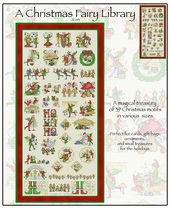 A Christmas Fairy Library JE193 cross stitch chart Joan Elliott Designs - $16.00