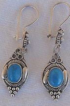Turquoise oriental earrings  - $23.00