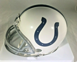 ANDREW LUCK / INDIANAPOLIS COLTS / AUTOGRAPHED COLTS LOGO MINI HELMET / COA image 3