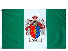 Nieto Coat of Arms Flag / Family Crest Flag - $29.99
