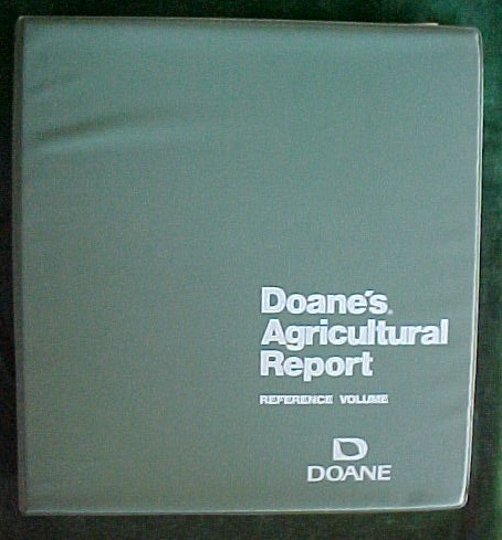 Doane's Agricultural Report.Reference Volume,588 pages