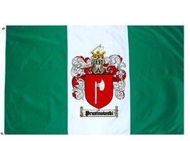 Prusinowski Coat of Arms Flag / Family Crest Flag - $29.99