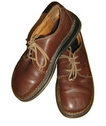 BORN BROWN OXFORDS WALKING SHOES LEATHER LACE U... - $21.00