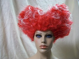 Disney Red Queen Wig Alice Looking Glass Iracebeth Crims Hearts Witch Winifred - $25.60