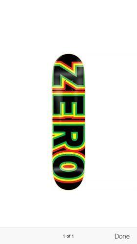 Zero Skateboard Deck Sanoval Rasta 8.0