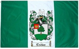 Crowe Coat of Arms Flag / Family Crest Flag - $29.99
