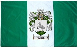 Fausel Coat of Arms Flag / Family Crest Flag - $29.99