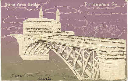 Primary image for Stone Arch Bridge Pittsburgh Pennsylvania vintage 1906 Post Card