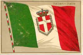 Italien Italie flag Post Card - $8.00