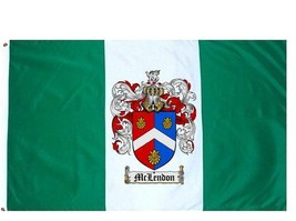 Mclendon Coat of Arms Flag / Family Crest Flag - $29.99