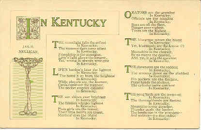 Primary image for  Salute to Kentucky Vintage Post Card