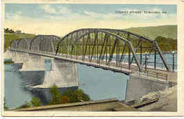 County Bridge Towanda Bradford Pennsylvania Post Card circa 1907 - $5.00