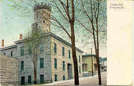 Bradford County Jail Towanda Pennsylvania 1908 Post Card - $6.00