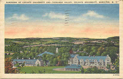 Colgate University Panorama Vintage 1947 Post Card