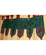 Indian Toran-Ornamentation over doors & windows.hand-embroidered &shisha... - $33.20