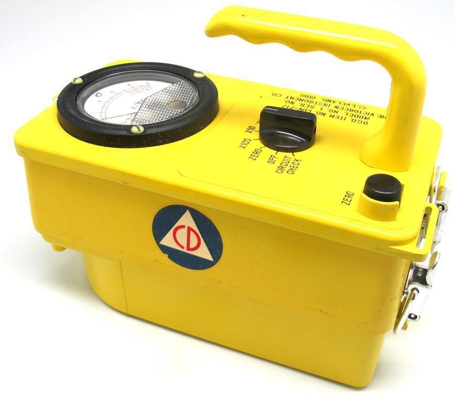 1960s Cold War / Vietnam Era U.S. Civil Defense Geiger Counter MINT IN BOX