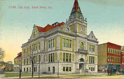 Primary image for City Hall South Bend Indiana Vintage 1912 Post Card
