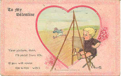 Primary image for To My Valentine Artist E Curtis Vintage Post Card