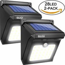 Set 2 Luce Solare Esterna Con Sensore di Movimento Giardino Scala Terraz... - $188.28