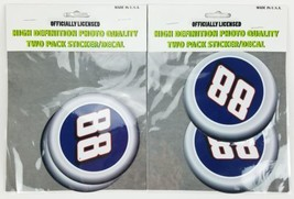 """(Lot of 2)Dale Earnhardt Jr #88 2pack 4"""" Round Auto Decal Sticker Hi Def... - $8.54"""