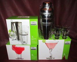 Libbey, Gray Goose, Wild Turkey, 16 pc Glassware Shaker, Barware Lot All... - $32.00