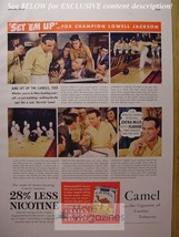 Rare 1942 Esquire Advertisement Ad Camel Cigarettes Lowell Jackson Bowling Wwii - $9.00
