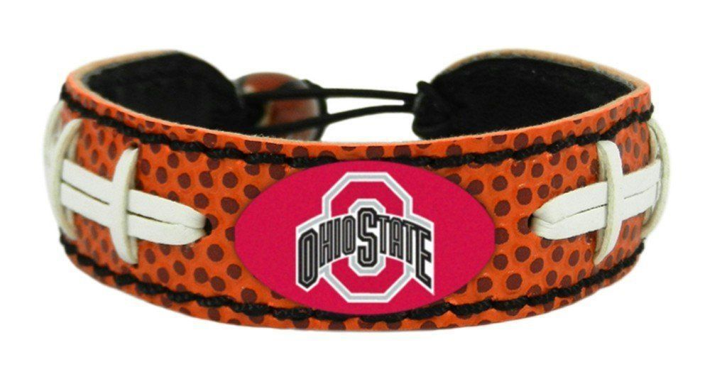 OHIO STATE BUCKEYES LEATHER FOOTBALL LACES CLASSIC BRACELET NCAA