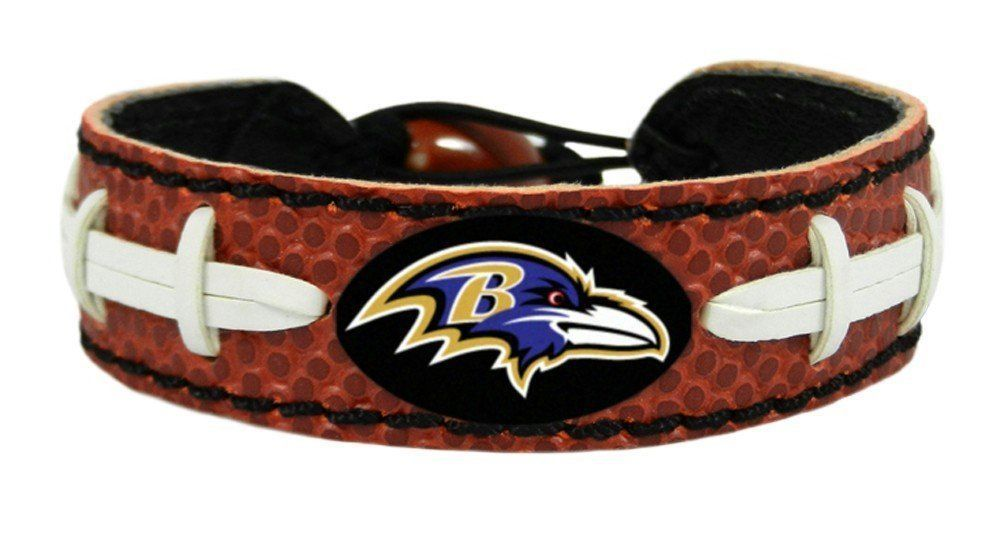 BALTIMORE RAVENS CLASSIC LEATHER FOOTBALL LACES BRACELET NFL FOOTBALL #1