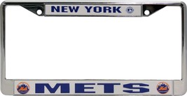 NEW YORK METS CAR AUTO CHROME METAL LICENSE PLATE FRAME MLB BASEBALL - $13.08