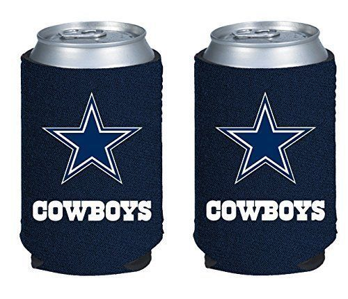 2 DALLAS COWBOYS BEER SODA WATER CAN KADDY KOOZIE HOLDER NFL FOOTBALL