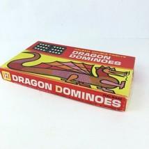 Vintage Halsam Double Twelve Dragon Dominoes No 1220 91 Pieces COMP w Di... - $9.89