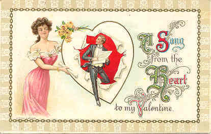 Primary image for A Song From The Heart 1911 Vintage Post Card