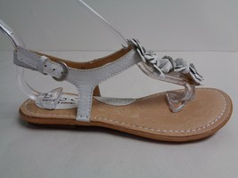 Born Size 6 M RAMEY White Leather Flats Thongs Sandals New Womens Shoes - $88.11
