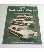 1975 Ford Station Wagons Squire Dealership Car Auto Brochure Catalog - $6.37