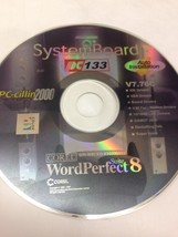System Board PC 133 word perfect suite 8 corel ... - $7.00