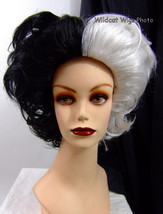 Cruella de Ville Wig ...  TOP QUALITY WIG .. Great for Halloween! - £25.07 GBP