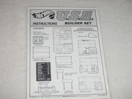 Hot Wheels Mattel USA Builder  Set  Instructions ( ONLY ) - $12.19
