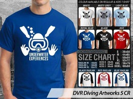 T Shirt Underwater Experience Divers Theme Many Color  - $9.99+