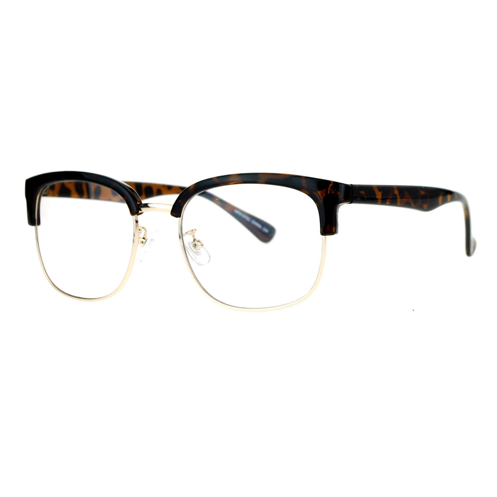 Designer Fashion Clear Lens Glasses Unisex Square Rectangular Eyeglasses