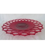 Westmoreland Glass, Lacy Edge / Doric Ruby Plate Platter, DO-15, circa 1... - $22.00
