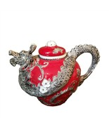 Red Dragon Teapot Ceramic Decorative Collectible Kitchen Décor Heather G... - $56.99