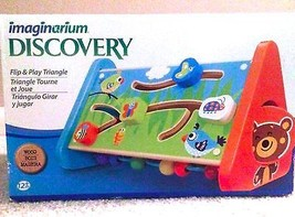 Imaginarium Discovery Flip and Play Triangle Kids Toddler Toy Wood Game ... - $29.99