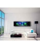 Panoramic Wall Aquarium Fish Tank Automatic Feeder Filtration Heater Air... - $1,423.06