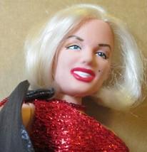 "MARILYN MONROE vinyl Doll SPARKLE SUPERSTAR red dress gown 11.5"", 1994 DSI - $31.99"