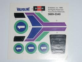 1989 Mattel Decals / Stickers Valvoline #3889-0340 Vintage UNUSED - $43.00