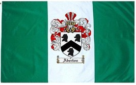 Aberton Coat of Arms Flag / Family Crest Flag - $29.99