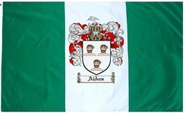 Alders Coat of Arms Flag / Family Crest Flag - $29.99