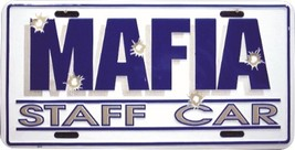 Mafia Staff Car License Plate - $6.92
