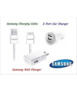 Original OEM Wall +Car Charger 3.0 USB Sync Cable For Samsung Galaxy S5 Note 3 - $8.86